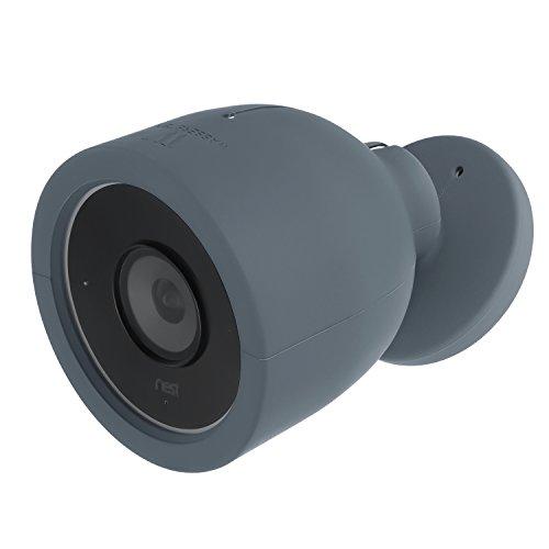 Wasserstein - Funda para cámara de vigilancia Nest CAM IQ Outdoor – Funda de Silicona de Colores Compatible con cámara de Seguridad Nest CAM IQ Outdoor – Camufla o Decora tu cámara (Pack de 1, Azul)