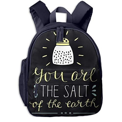Kinderrucksack Kleinkind Jungen Mädchen Kindergartentasche Beschriftung Sie sind Salz Backpack Schultasche Rucksack