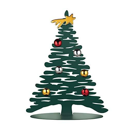 Alessi - Adorno de Navidad en Acero Colorado con Resina epoxi, Verde con imanes en Porcelana