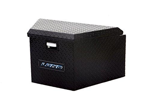Lund 76120 16-Inch Aluminum Trailer Tongue Truck Box, Diamond Plated, Black