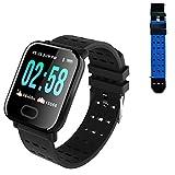YDK A6 Smart Watch con Monitor de Ritmo cardíaco Fitness Tracker Mujeres Hombres Presión Arterial Deportes Smart Watch IP67 Impermeable, Adecuado para Android iOS,C