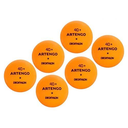 Artengo 40+ Tischtennisbälle, 6Stück, Orange, 40+