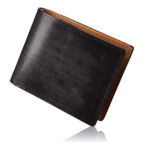 GLEVIO(グレヴィオ) ブライドルレザー 財布 メンズ 二つ折り 本革 メンズ ミニ財布 大容量 父の日