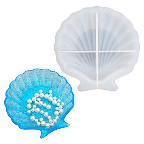 Molde de silicona epoxi epoxi Ocean Shell de winnerruby, molde de silicona...