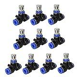 Hemore Set de boquillas de nebulización Conjunto de boquillas de Orificio de 0,4 mm MISTRUS Accesorios DE Sistema DE ENFRIAMIENTO para Tubo DE 1 / 4IQUING 10 UNIDS