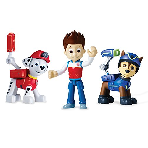 Paw Patrol 6024760 6024760-Action Pup 3Pk (Spy Chase/Rescue Marshall/Ryder), Multicolour