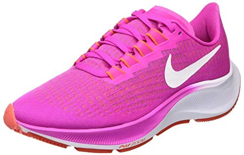 Nike Women's WMNS AIR Zoom Pegasus 37 Running Shoe, Fire Pink White Team Orange Magic Ember, 5.5 UK