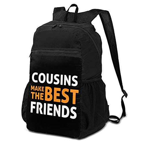 BNUJSAGIF Cousins Make The Best Friends Ultra Lightweight Hiking Travel Backpack Durable Water Repellent Packable Backpack Daypack, Handy Foldable Camping Outdoor Backpack for Women & Men