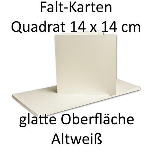 Lot de 50/carte/Double (hochdoppelt) carré Opale/Blanc, 140 x 140 mm (fermé), 260 g/m²//Serie o.p.a.l