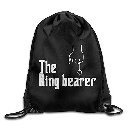 WENZXC Unisex Drawstring Backpack, Basic Chicks Dig A Ring Bearer Drawstring Backpack Bag