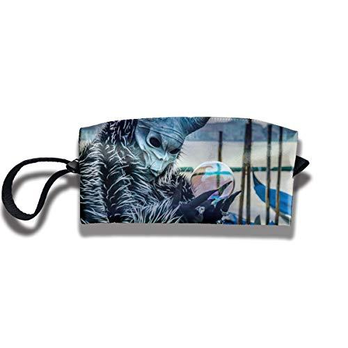 Doinh Masken und Kostüme bei Karneval in Venedig Kleine Kosmetiktasche Reisetasche mit Reißverschluss wasserdicht Aufbewahrungstasche tragbare Kosmetiktasche Pailletten Tasche geeignet für Mädchen