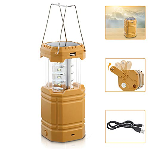 Rechargeable Solar Camping Lantern with Hand Crank