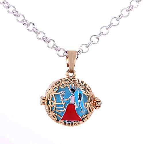 Preisvergleich Produktbild Ätherisches Öl Diffusor Halskettekonstellation Muster Aromatherapie Anhänger Parfüm Ätherisches Öl Diffusor Halskette Käfig Anhänger Parfüm Amulett Paar Halskette