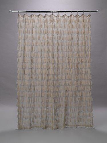 Couture Dreams 105899700–ChiChi Blütenblatt Duschvorhang sandfarben