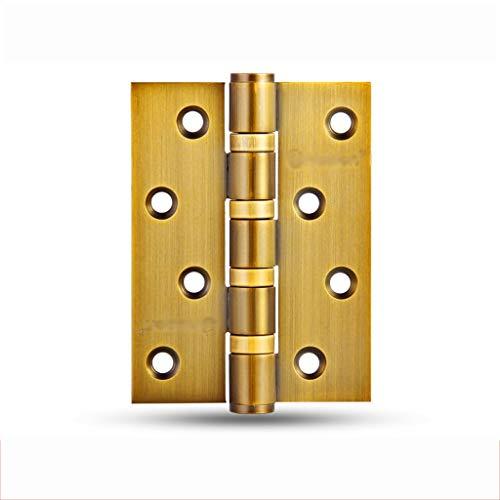 Zhenmu home Bisagra de Puerta Puerta de Madera Bisagra de Seguridad de 4 Pulgadas Bisagra de Puerta de Madera Bisagra abatible de Puerta de Acero Inoxidable 1 Pieza (Color : E, Size : 4pcs)