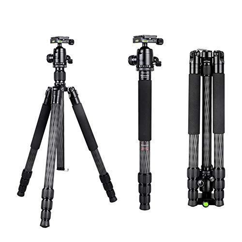 MUJING Ultrakompaktes und leichtes Reisestativ aus Carbonfaser mit Einbeinstativ, 360 ° Panorama-Kugelkopf, kompatibel mit Canon Nikon DSLR-Kameras
