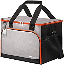 45-Can Insulated Cooler Bag Leakproof Soft Sided Cooler Bag Collapsible Portable Cooler for Lunch Picnic Camping Hiking Beach BBQ Party