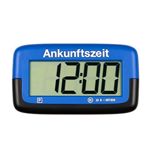 PS1800 Park Micro vollautomatische Parkscheibe mit Zulassung I Digitale Parkuhr Mikro blau mit Batterie u. Montage Zubehör