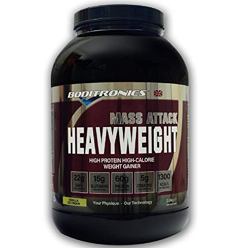 Boditronics Mass Attack Heavyweight, 2kg, Weight Gainer (Milk Chocolate)