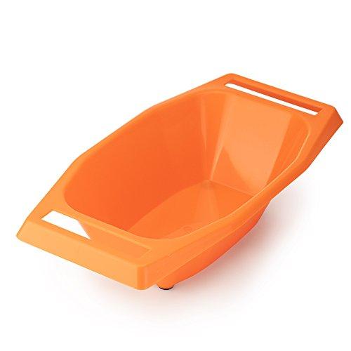 Börner Auffangschale für V3 TrendLine Küchenhobel in orange - Salatschüssel V-Hobel Zubehör Auffangbehälter Gemüsehobel