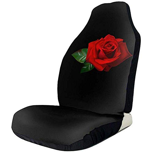 Dem Boswell Fundas de Asiento de Coche Flower Rainbow Rose Fundas de A