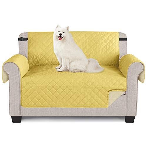 TAOCOCO Sofabezug für Sessel, wasserdicht, für Sofa oder Sessel, gelb, 2 Sitzer, 120 x 190 cm
