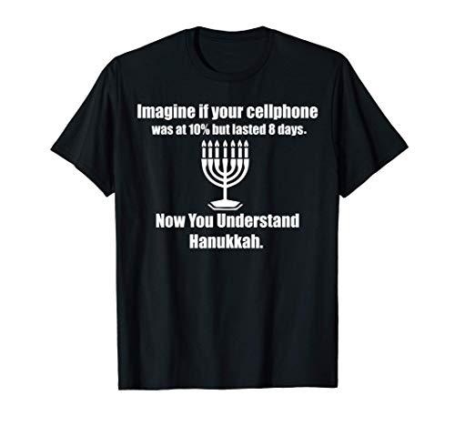Funny Hanukkah Pajamas Top Jewish Chanukah Christmas Gifts T-Shirt