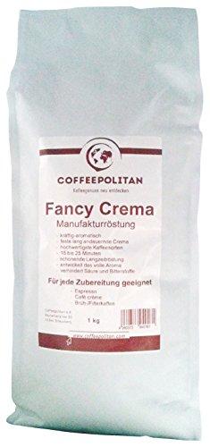 Coffeepolitan Fancy Crema - Café-Espresso ganze Bohne - 1kg Espressobohnen - Langzeitröstung und außergewöhnliche Crema