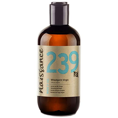 Naissance Olio di Germe di Grano Vergine - Olio Vegetale Puro al 100%, Vegano, senza OGM - 250ml