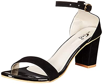 Misto Women's and Girl's Formal Casual Suede Leather Block Heel Sandal