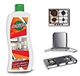 Kitchen Degreaser Cleaner   Non Corrosive   Multipurpose Product - Removes Oil Grease Food Stains   Kitchen Cleaner   Chimney Stove Grill   Kitchen Slab   Tiles   Floor   Sink Cleaner Liquid PH Neutral by Scrubit - (550ml, Pack of 1)