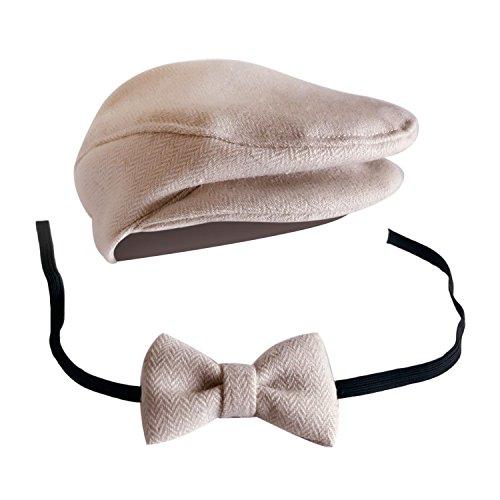 Gosear Elegante Signore Stile Neonato Bambino Ragazzi Fotografia Cap Cappello Arco Cravatta Puntelli Costume Abbigliamento Copricapo Accessori A