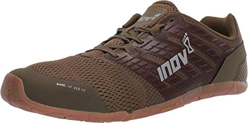 Inov-8 Men's Bare XF 210 V2 - Minimalist Cross Training Shoes - Khaki/Gum - 10.5