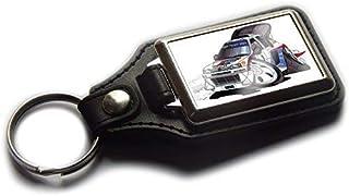 Koolart Peugeot 205 Maxi WRC Coche Carrera Piel y Cromo Llavero