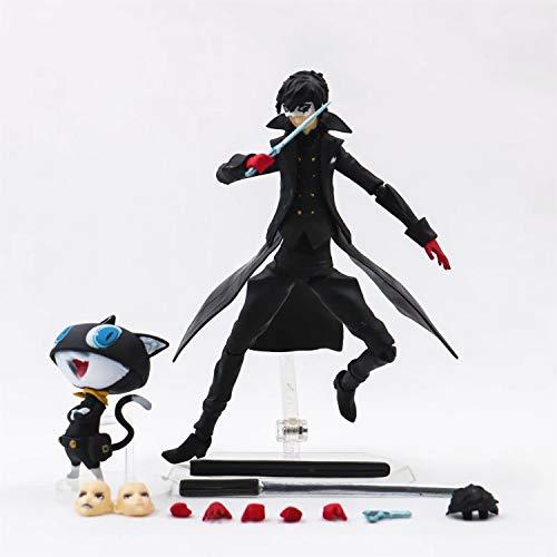 LIEBESSCHLOSS Persona 5 Joker Akira Kurusu Y Morgana Figura De Accion MaxFactory Figma 363 De PVC Modelo De Juguete De Coleccion
