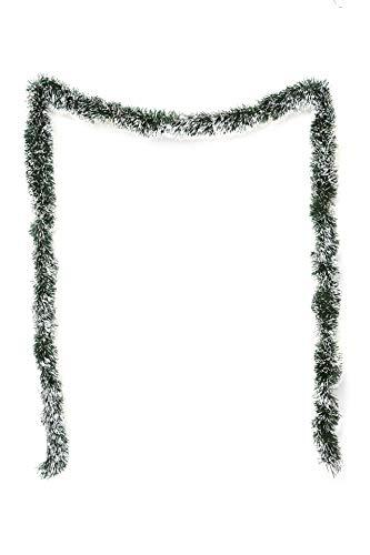 HEITMANN DECO Tannengirlande für Innen - natürliche Deko - Dekogirlande - Weihnachtsgirlande - grün mit weißen Spitzen