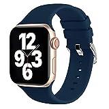 Fengyiyuda Correas Compatible con Apple Watch Correa 38mm 42mm 40mm 44mm, Correa Loop Deportiva con Silicona Suave de Repuesto Compatible con iWatch Series 6, 5 4 3 2 1, SE