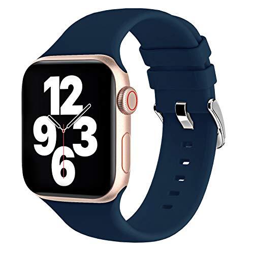 Fengyiyuda Cinturino Compatibile con Apple Watch 38mm 40mm 42mm 44mm, Cinturino di Ricambio Lo Sportivo in Silicone Compatibile con IWatch SE Serie 6/5/4/3/2/1
