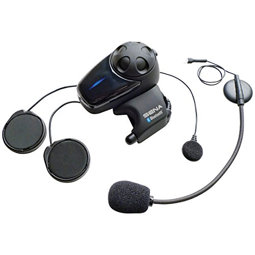Sena Smh10d-11 para moto auricular Bluetooth/interfón Universal para micrófono Kit (doble) y juego de auriculares Cable adaptador 2
