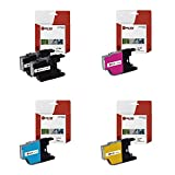 Laser Tek Services Compatible LC-75 LC75BK LC75C LC75M LC75Y Ink Cartridge Replacement for Brother MFCJ6510DW J6710DW Printers (Black, Cyan, Magenta, Yellow,5 Pack)