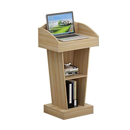 TnSok Stehendes Podium Deluxe Wood Podiumempfangsrestaurant-Pulpit-Lektoren-Empfangs-School-Institution-Konferenzhotel (Color : Khaki, Size : 40x60x110cm)