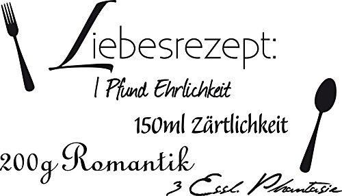GRAZDesign Wand-Dekoration Liebessprüche - Wanddeko Wandspruch Liebes Lounge - Wandtattoo Schlafzimmer Valentinstag / 100x57cm / 720135_57_070