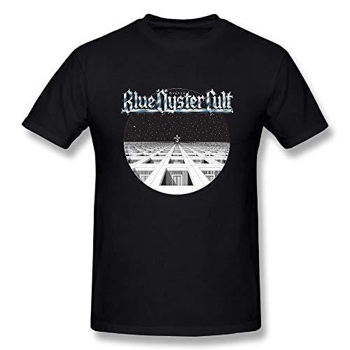 AYYUCY Camisetas y Tops Hombre Polos y Camisas UrsulaA Men's Casual Blue Oyster Cult T Shirts Black