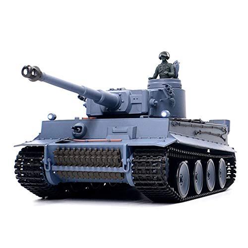 FADY RC Panzer, Ferngesteuerter Militärpanzer German Tiger mit Schussfunktion 1:16 mit Rauch&Sound -2,4Ghz -V6.0 (Basisversion)