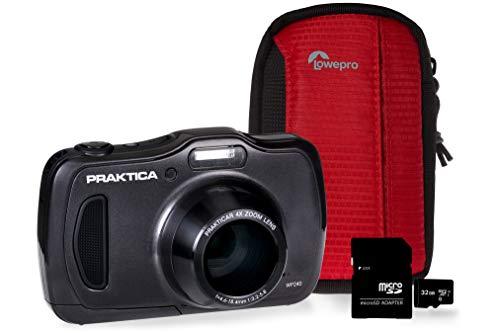 PRAKTICA Luxmedia WP240 Graphit-Kamera-Set mit 32 GB MicroSD-Karte und Tasche