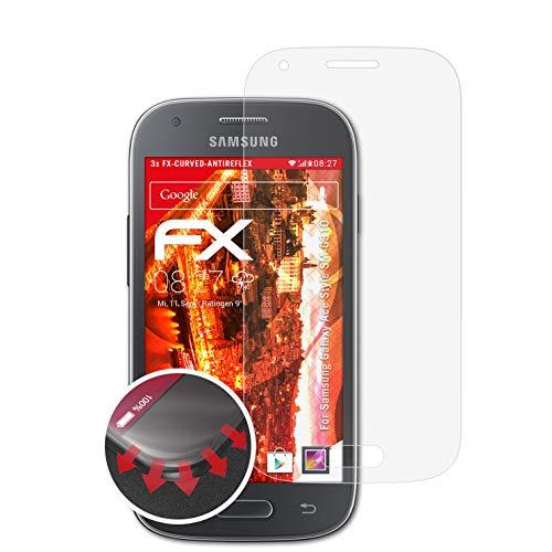 atFolix Schutzfolie kompatibel mit Samsung Galaxy Ace Style SM-G310 Folie, entspiegelnde & Flexible FX Bildschirmschutzfolie (3X)