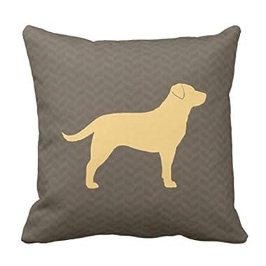 Emvency Throw Pillow Cover Retreiver Yellow Labrador Retriever Dog Decorative Pillow Case Home Decor Square 18 x 18 Inch Pillowcase