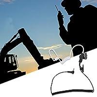 エアアコースティックチューブイヤピースチューブヘッドセット高ノイズ環境での調整可能な聴覚、ウォーキートーキーラジオ用、ノイズの多い環境用