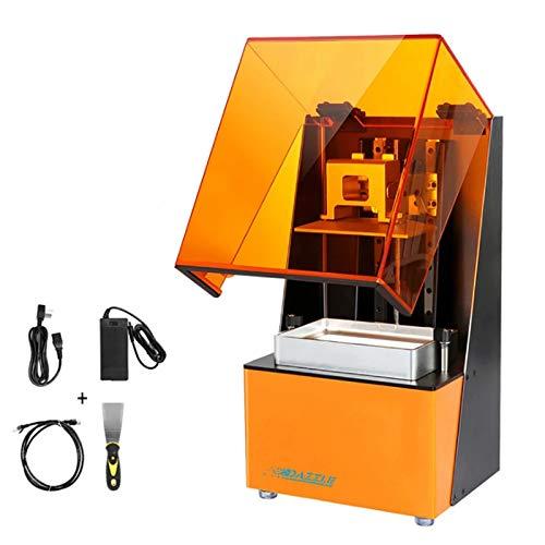 Impresora 3D, L120 Impresora 3D Básica UV Resina de alta resolución 2K LCD Impresoras de impresión alta de alta resolución Impresoras 3D para la clínica dental Casting de la joyería, impresión Tamaño:
