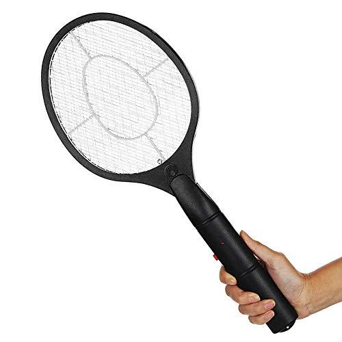 ATopoler Elektrisk insekt zapper racket handhållen myggor insekter späckhuggare batteridriven flugsmällare insekt zapper racket för inomhus utomhus camping picknick (svart)